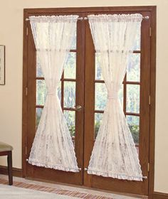 Pull In A Narrow Rod Top And Bottom Lace Door Panel To Create A Good  Looking Hour Glass Effect. Perhaps You Could Use A Contrasting Color For A  Tiu2026