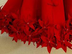 72 falda de árbol de Navidad en rojo Premium sentía por SeamsClever