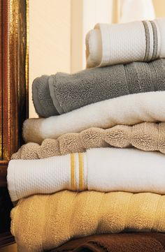 Our Resort Embroidered Stripe Towel is made of the same luxurious and lofty Turkish Aegean long-staple cotton as our Resort Bath Towels, with the added elegance of double-stripe embroidery.