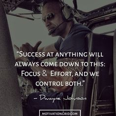 Success focus and effort dwayne johnson inspirational image quote