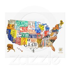 57 best License Plate Art Gifts images on Pinterest | Licence plate ...