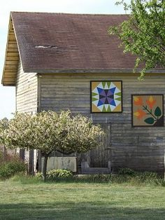 two barn quilts