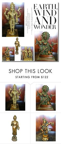 """""""Wonder of Zen Statue"""" by boho-chic-2 ❤ liked on Polyvore featuring interior, interiors, interior design, home, home decor, interior decorating, statue, sculpture, zendecor and zeninterior"""
