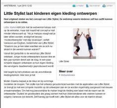 www.littlestylist.com: de webshop voor de allerjongste modeontwerpster in Bengels.  Meisjeskleding: customize hier je eigen jurk, tuniek of schooltas.