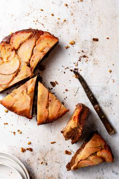 Espresso Pear Upside Down Cake