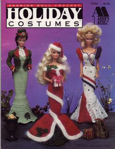 Barbie, Fashion Doll, CROCHET, HOLIDAY COSTUMES 1 pattern, http://knits4kids.com/collection-en/library/album-view?aid=5158
