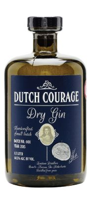 Dutch Courage Dry Gin. Zuidam's wonderfully named Dutch Courage is a rich dry gin from Holland. Made in small batches, this is a crisp and full-bodied gin which works wonderfully in a Dry Martini.