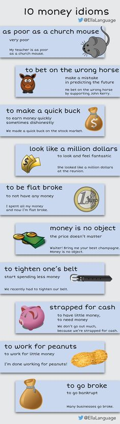 10 money idioms  #English #LearnEnglish #ESL #idioms