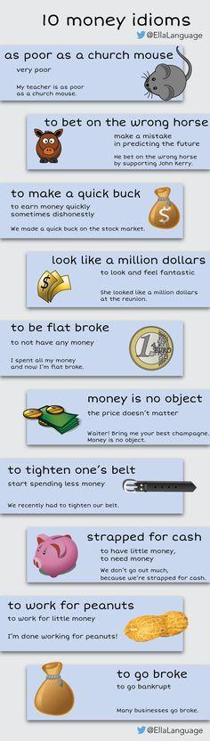10 money idioms #English #LearnEnglish #ESL #idioms