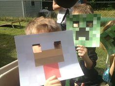 Minecraft Creeper and Chicken Masks