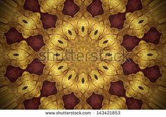 Grunge golden oriental ornament - stock photo