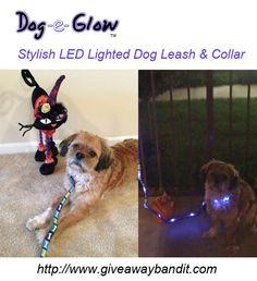 Dog-e-Glow Lighted Dog Leash and Collar.......... 2 words: Ha Ha