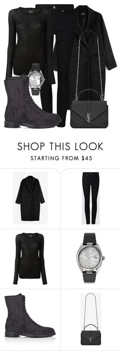 """Untitled #4771"" by beatrizvilar on Polyvore featuring Monki, Rick Owens, Givenchy, The Row and Yves Saint Laurent"