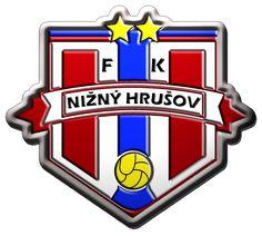 FK Nizny Hrusov old , football / soccer logo , Slovakia