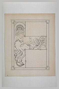 Alphonse Mucha Sketches and studies for Ilsee