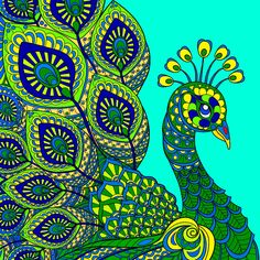 Peacock Artwork, Peacock Painting, Creation Coloring Pages, Banksy, Birds, Peacocks, Colouring, Drawings, Art Ideas