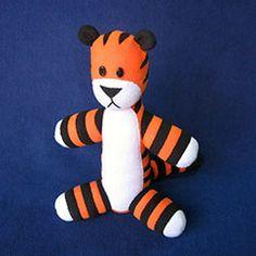 Hobbes plush toy - Download this free pattern at Plushpatterns.net