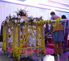 """A traditional """"Doli"""" or carriage for a bride"""