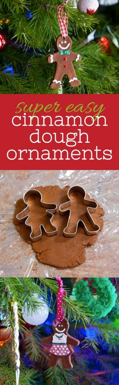 Super Easy Cinnamon Dough Ornaments that smell great! Do this with the kids but don't let them eat the dough