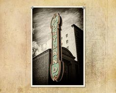 Portland Oregon Sign Black and WhiteFine Art by ThePDXPhotographer