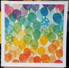 Square Envelopes, Rainbow Balloons, White Rainbow, Etsy Uk, Card Maker, Birthday Balloons, Greeting Cards Handmade, Etsy Store, Birthday Cards