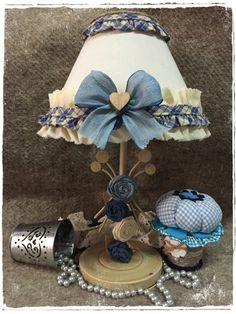 lampada country azzurra