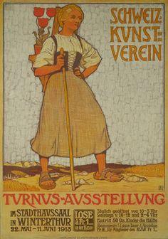 Schweiz Kunstverein, Turnus Austellung Winterthur 1913 Burkhard MANGOLD