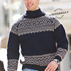 Gratis nedlasting - voksen - Viking of Norway Knitting Charts, Knitting Patterns, Summer Knitting, Alpacas, Norway, Vikings, Free Pattern, Men Sweater, Boys