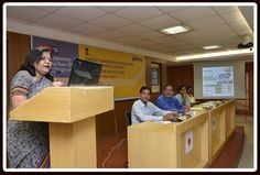 Mrs. Anima Pandey, Regional Director giving Presentation on IESS, 2015.
