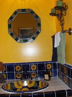 American Indian Decorating Ideas SOUTHWEST BATHROOM DECOR - Sunflower bathroom decor for small bathroom ideas