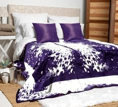 Available in black, purple or chocolate brown. our Nguni blankets combine plush luxury with a striking design. Famous Black, Soft Blankets, Chocolate Brown, Comforters, Plush, Colours, Warm, Black And White, Luxury