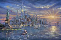 Robert Finale - Freedom Tower - Lower Manhattan, New York - Americana Collection - oil on canvas