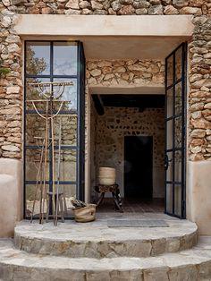 La Granja Ibiza A new kind of Design Hotels™ Project – casalibrary Design Hotel, House Design, Exterior Design, Interior And Exterior, Casa Hotel, Brick And Stone, Stone Houses, Rustic Interiors, Beach House Decor