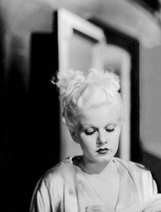 """ My God, must I always wear a low-cut dress to be important? Jean Harlow """