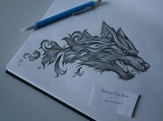 Baroque Wolf Tattoo by ThreshTheSky.deviantart.com on @deviantART