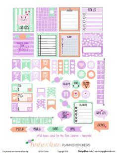 Melocotones n 'Cream pegatinas Planner |  imprimir gratis, sólo para uso personal