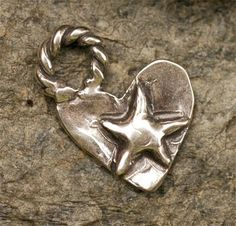 Artisan Rodeo Heart with a Star Sterling Silver Charm