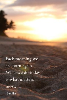 #CitationDuJou Each morning we are born again. What we do today is what matters most. -Buddha