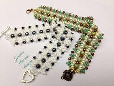 "Bracelet with Superduo by Jessica Massari Design Tutorial Bracciale Superduo ""Butterfly effect"" - Superduo Beads Bracelet"""