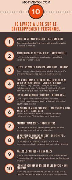 Infographie : 10 Livres A Lire Sur Le Développement Personnel