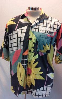 Vintage JAMS WORLD Surf Line Original Multi-color Cotton Men's Hawaiian Large L #JamsWorld #Hawaiian