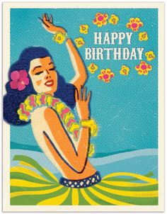 Hula Girl Happy Birthday - ITEM 310