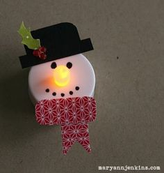 Snowman Tea Lights...I just love these ornaments!
