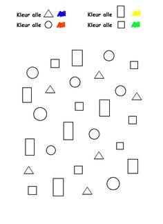 Werkblad; kleur de vormen