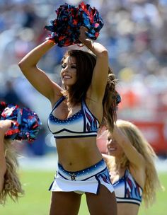 Tennessee Titans cheerleaders perform in the first half of an NFL football game between the Titans and the Oakland Raiders Sunday, Sept. 25, 2016, in Nashville, Tenn. (AP Photo/James Kenney) Photo: James Kenney, Associated Press / FR171271 AP