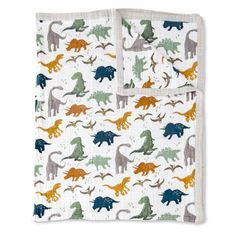 Dino Friends Big Kid Cotton Muslin Quilt - Project Nursery Muslin Fabric, Cotton Muslin, First Birthday Parties, First Birthdays, Quilts Online, Little Unicorn, Project Nursery, Kid Beds, Baby Clothes Shops