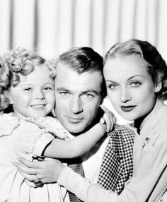 """Most gorgeous fictional family: Shirley Temple, Gary Cooper, and Carole Lombard - """"Now and Forever"""""""