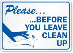 Clean Signs Se 2668 Keep Bathroom Public Restroom