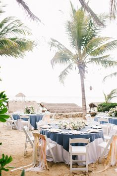 Brandon Kidd Photography | Viceroy Riviera Maya Destination Wedding | Playa Del Carmen | Mexico | LVL Weddings & Events | Tabletop Decor | Driftwood | Blue Pink and Gold | Sand Reception | Sweetheart Table | Ribbon Chairs | Beach Wedding