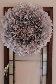 Ruffled Sheet Music Wreath Tutorial | Elizabeth & Co.